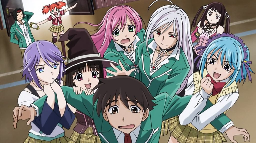 rosario vampire best fan service anime of all time