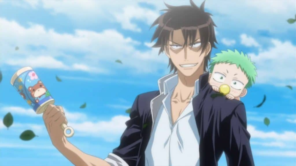 beelzebub and oga anime with overpowered main character
