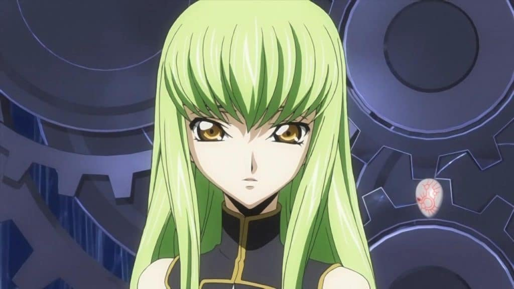c.c. code geass anime characters with green hair