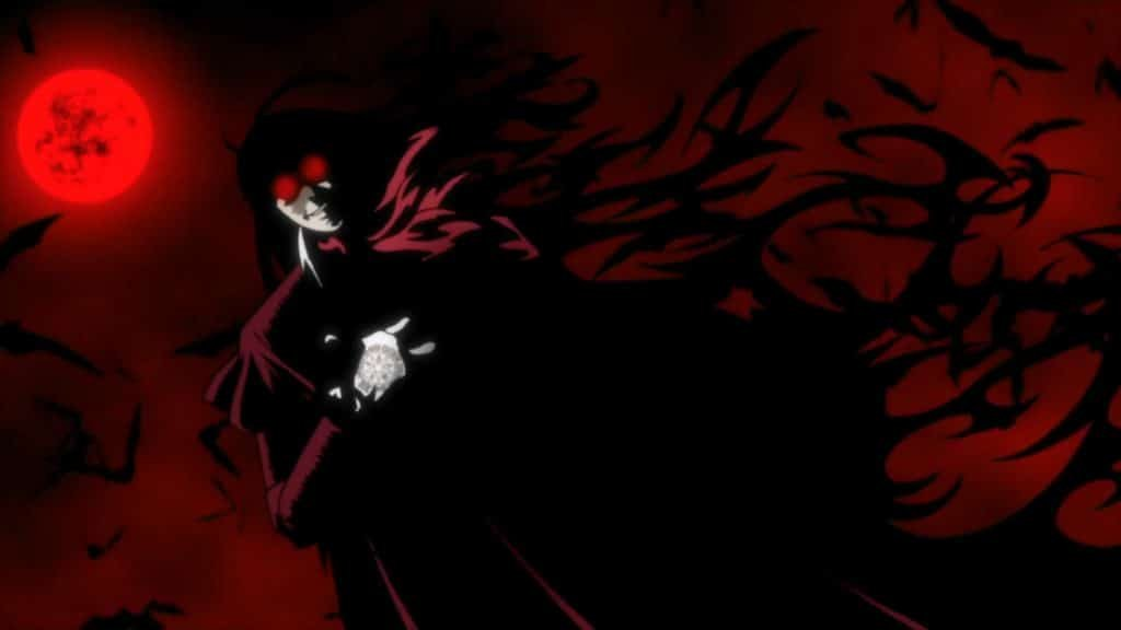 hellsing ultimate alucard anime with overpowered main character