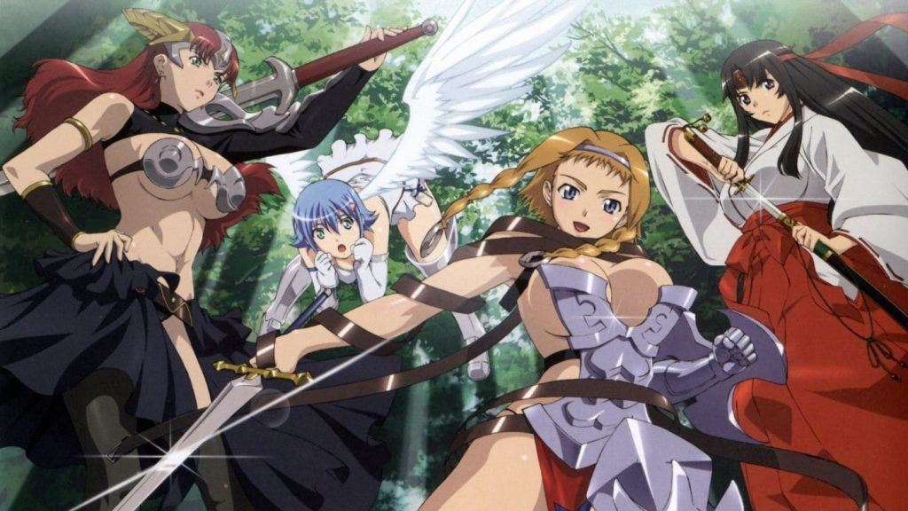 queens blade the exiled virgin best ecchi anime of all time