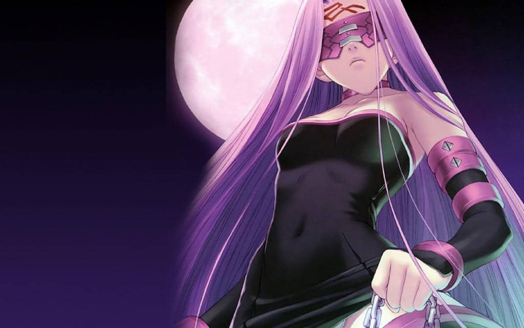 rider bewitching black serpent fate stay night anime girls with purple hair