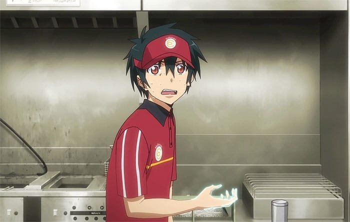 satan the devil is a part timer anime characters with green hair